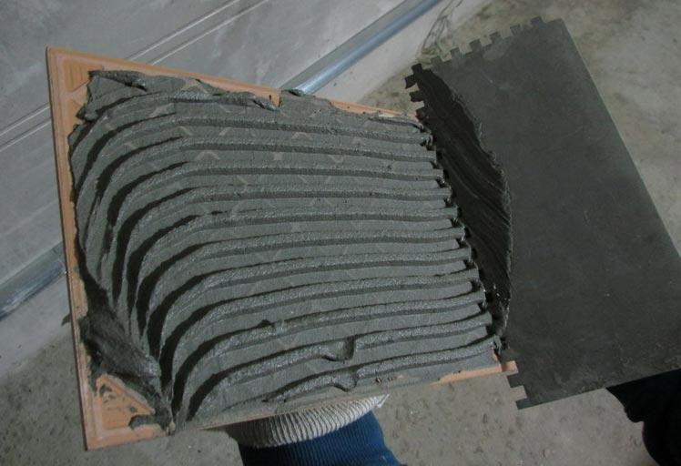 клей для плитки-нанесение, правила