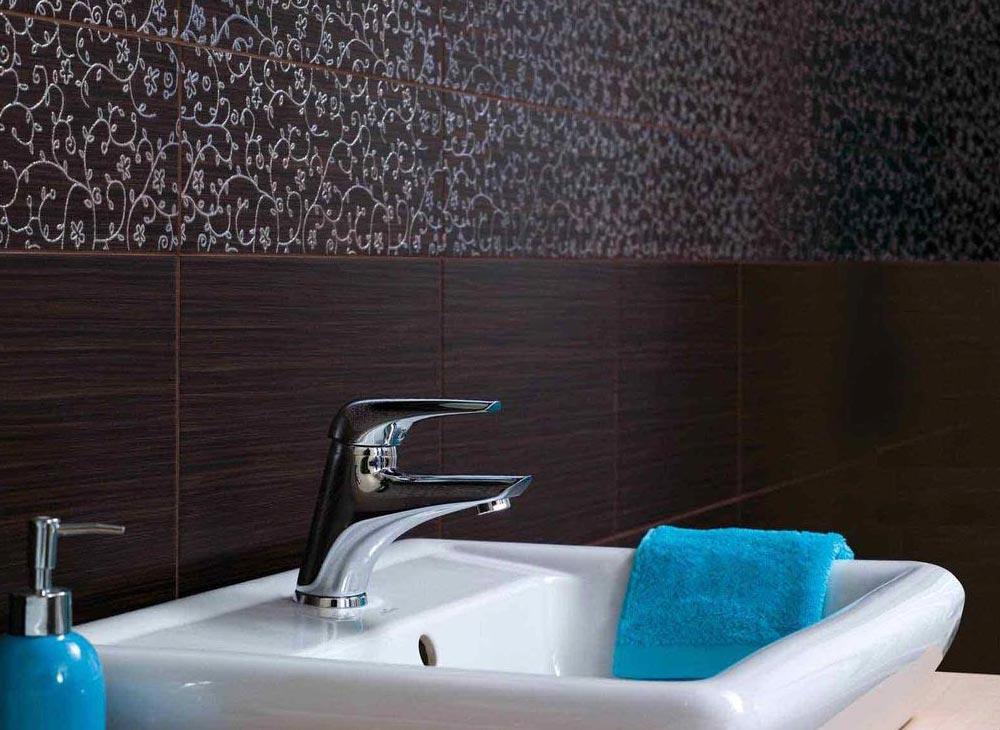 матовая плитка для ванной-стены