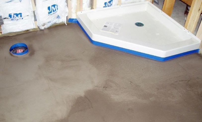 мокрая стяжка на пол в ванной под плитку-рекомендации