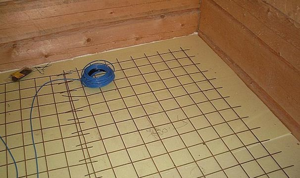 мокрый пол в бане