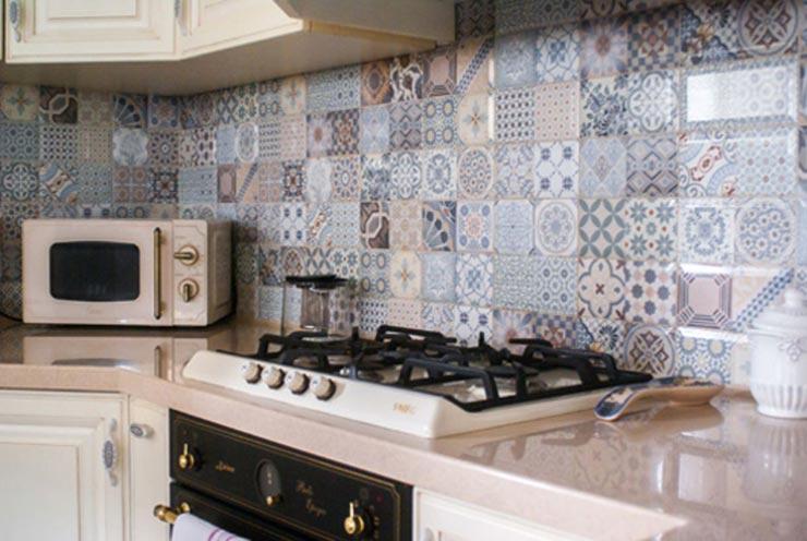 Мозаичная плитка прованс на кухне