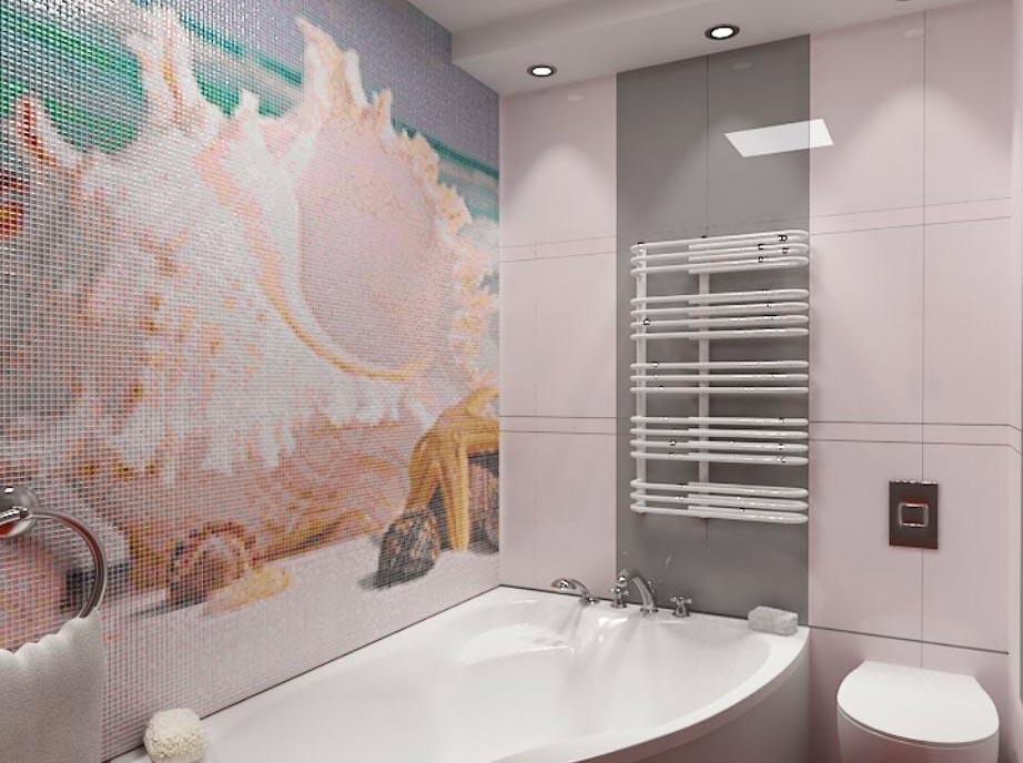 Мозаичное панно из плиток для ванной