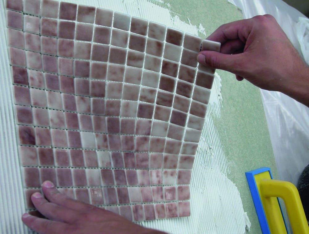 нанесение разметки для мозаичной плитки