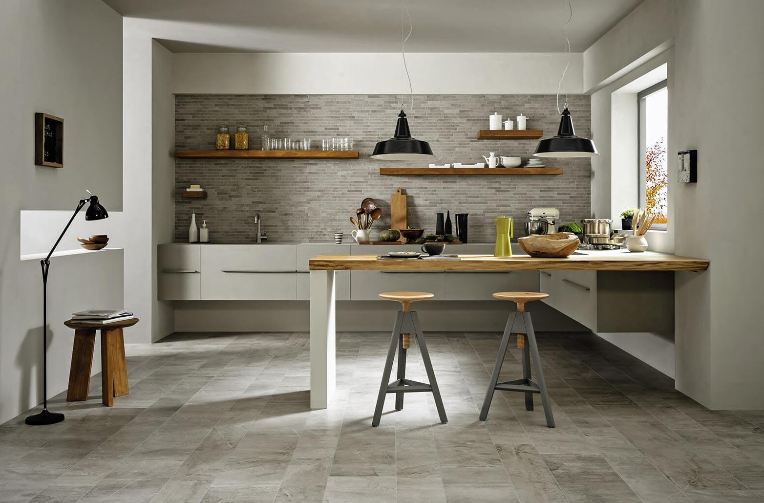 напольная плитка под камень для кухни-дизайн
