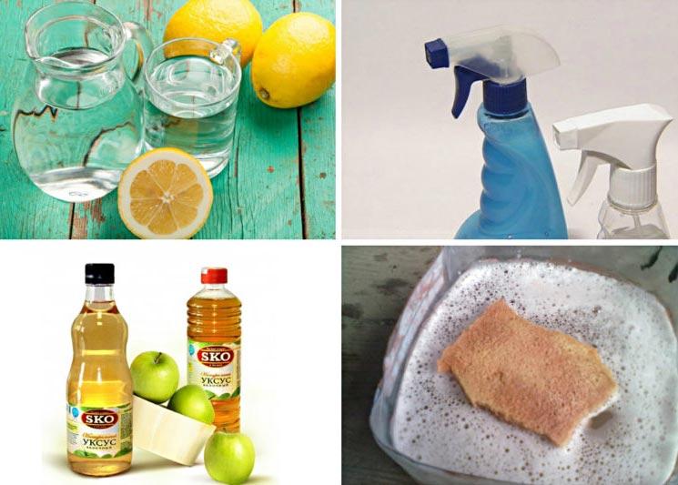 народные средства для чистки плитки на кухне