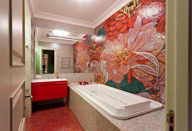 Настенной панно из плиток для ванной 2