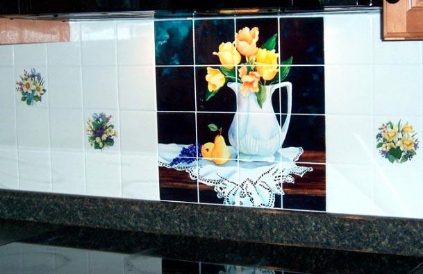 обновка плитки на кухне-готовые решения, примеры