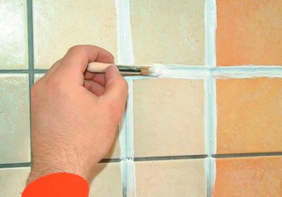 обновление швов плитки на кухне