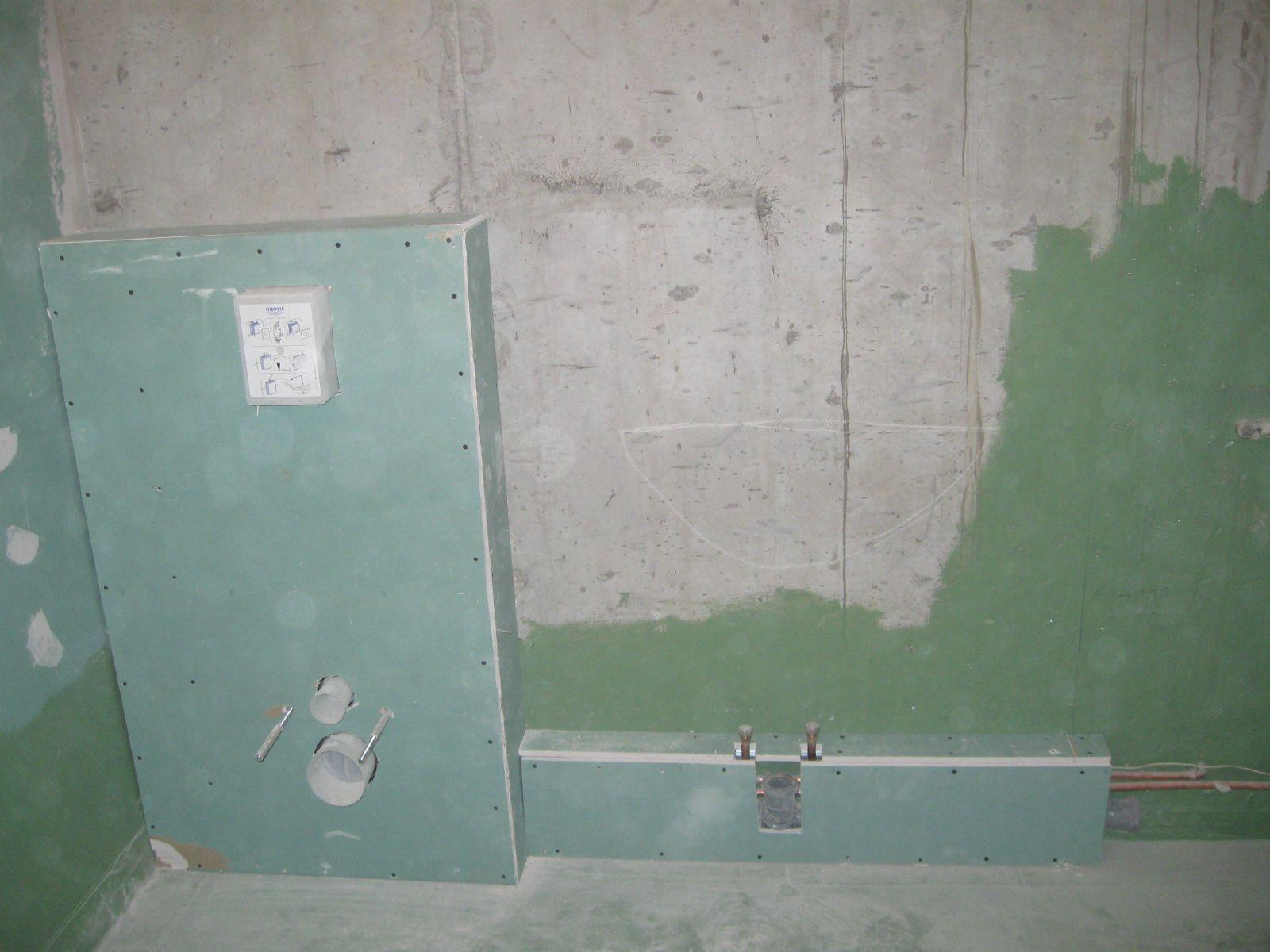 обшивка ванной гипсокартоном под плитку