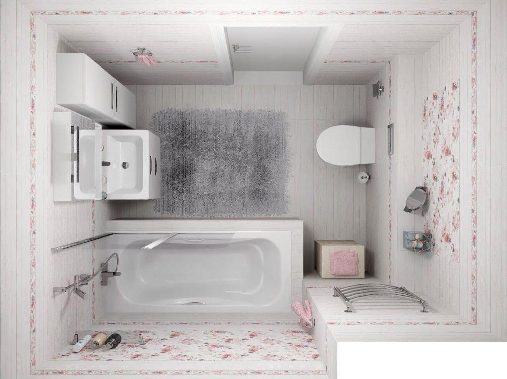 Особенности ванной в стиле шебби-шик 2