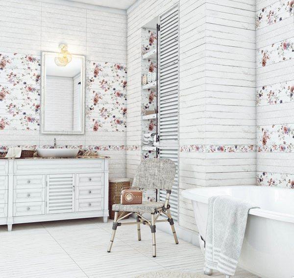 Особенности ванной в стиле шебби-шик 5
