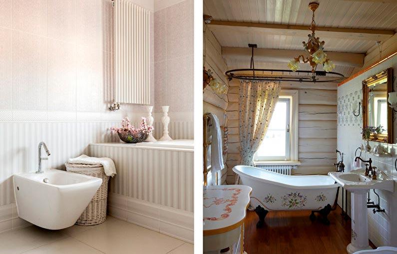 Особенности ванной в стиле шебби-шик 6