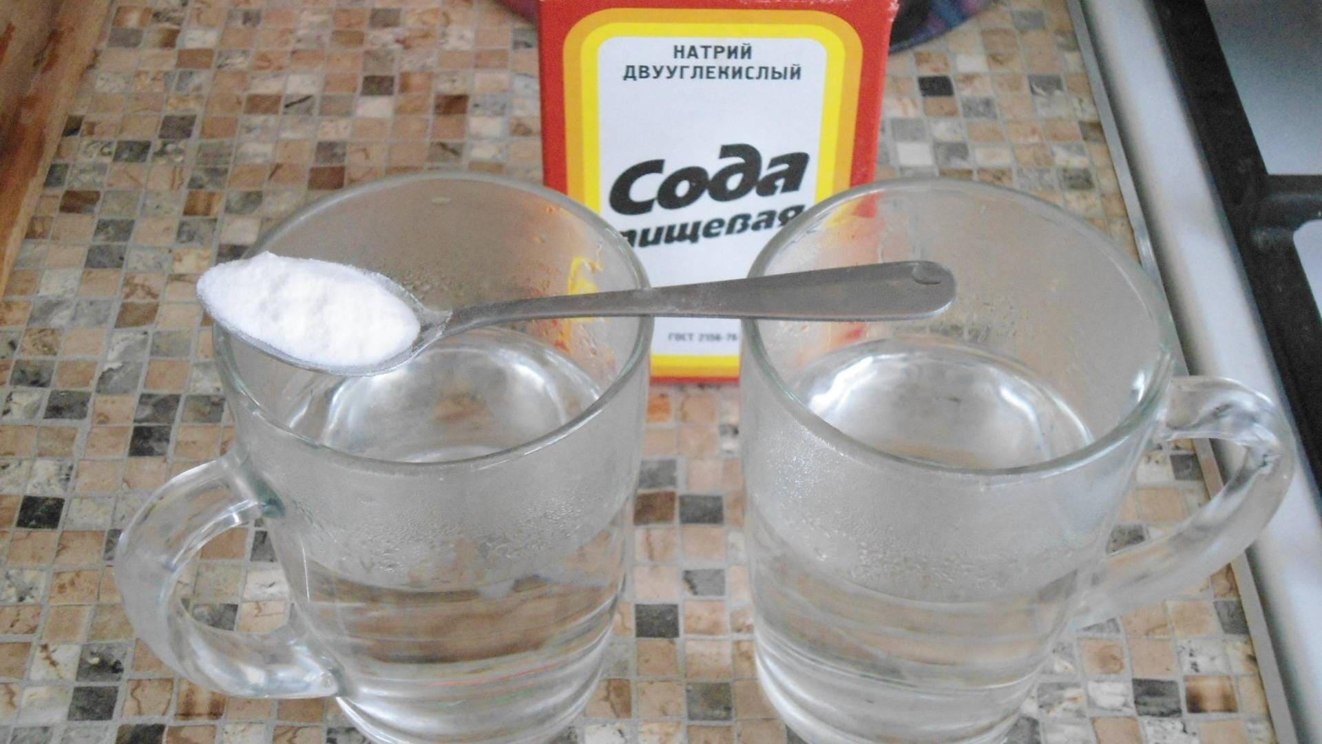 отмыть затирку уксусом и содой