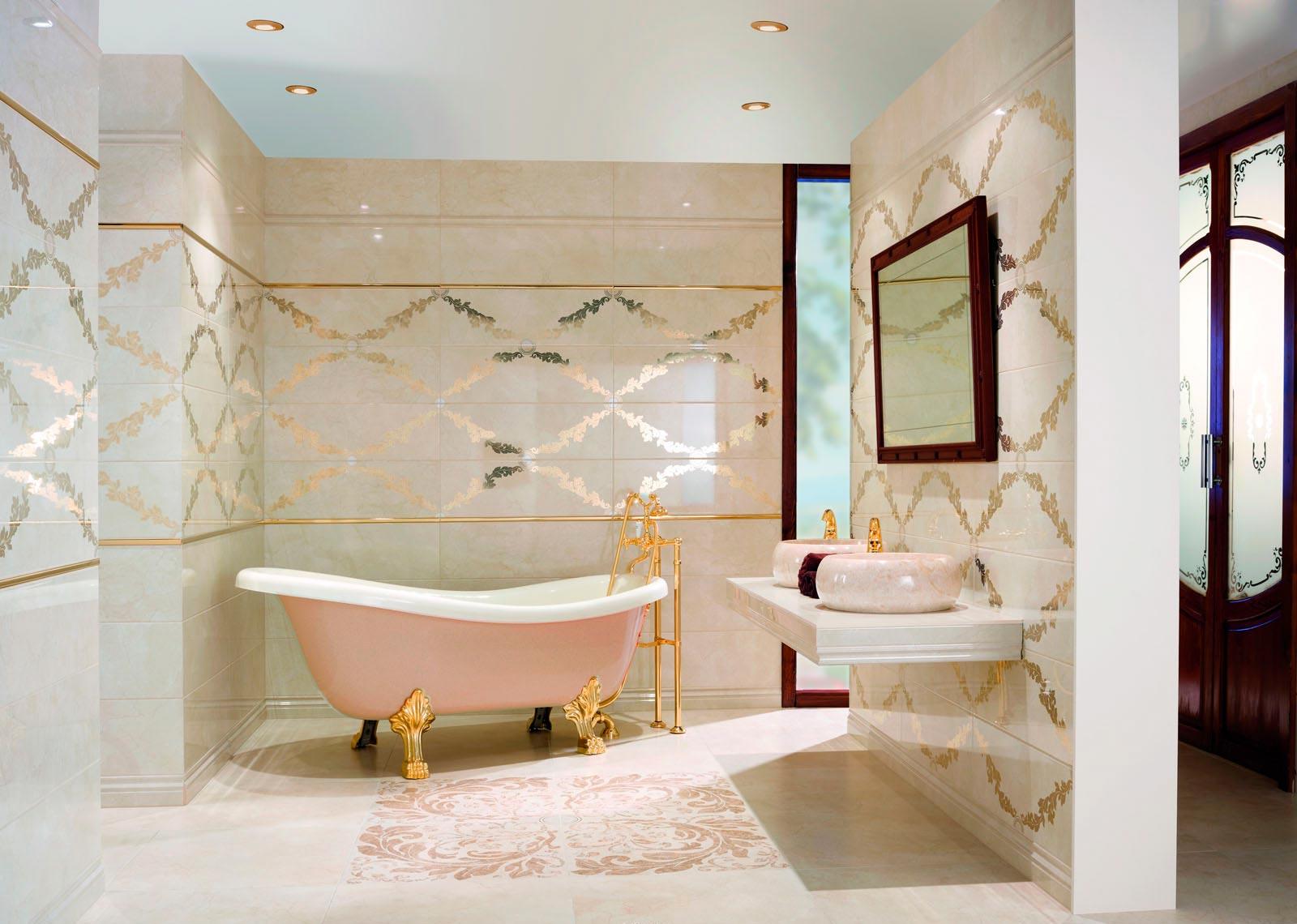 Панно из керамогранита для стены ванны