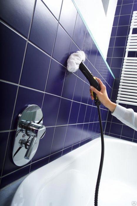 пароочиститель для чистки швов между плиткой в ванной