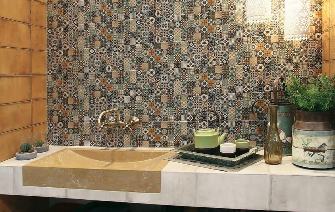 пэчворк в ванной кантри