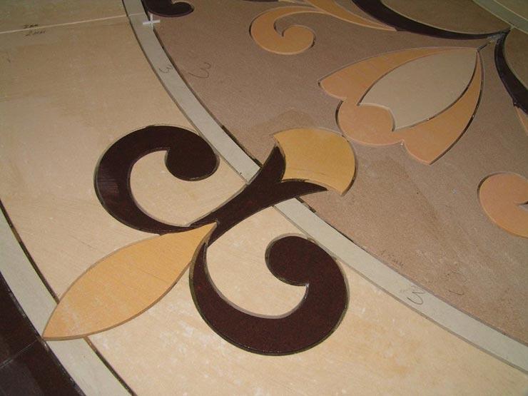 Плитка фигурная гидрорезка