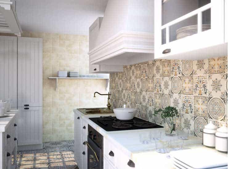 Какие узоры плитки пэчворк подходят для кухни