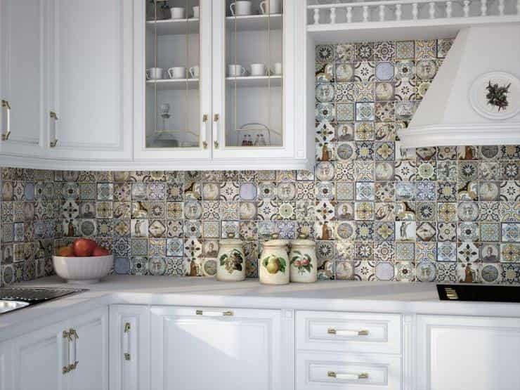 Особенности укладки плитки пэчворк для кухни