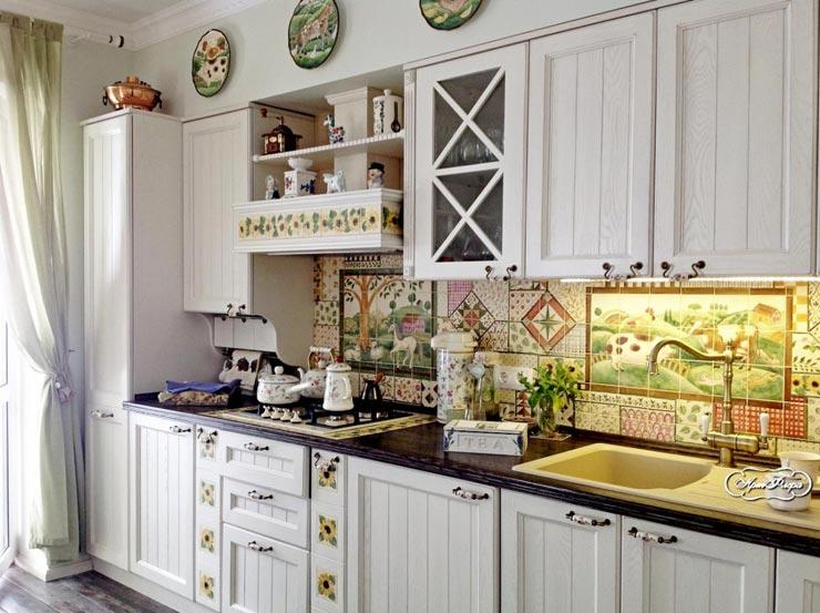 Плитка прованс пэчворк на кухне