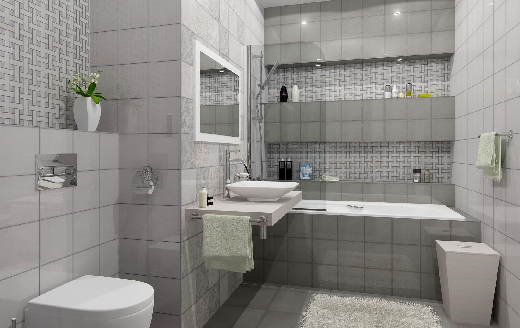 плитка серая для ванной
