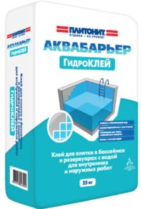 плиточный клей для бассейнов-аквабарьер