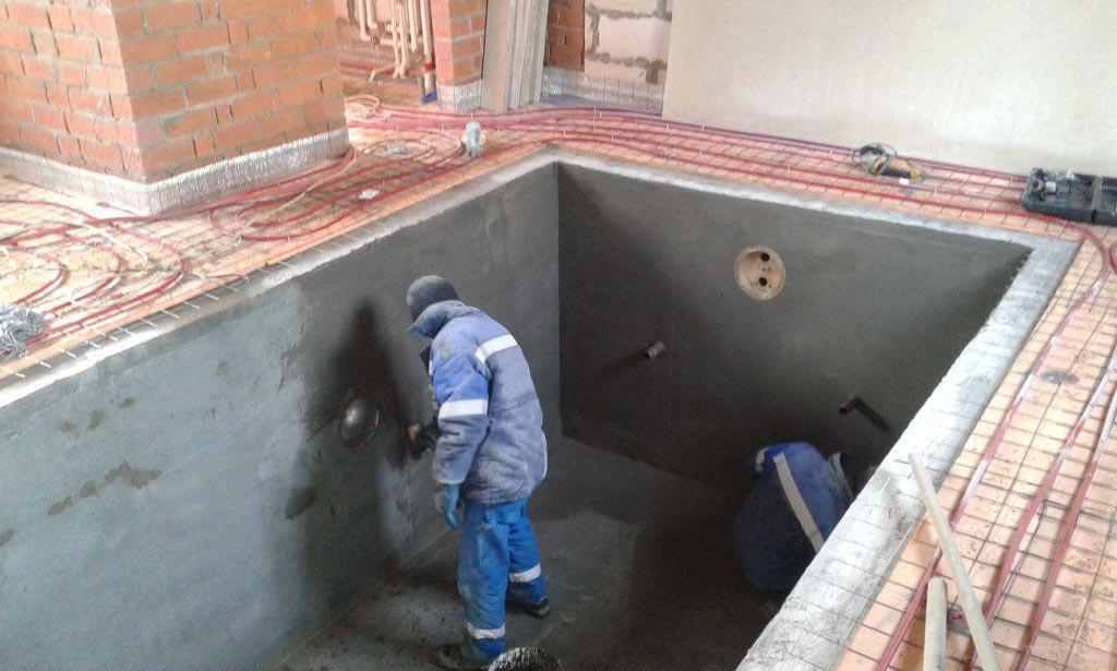 плиточный клей для бассейнов-поверхность бассейна