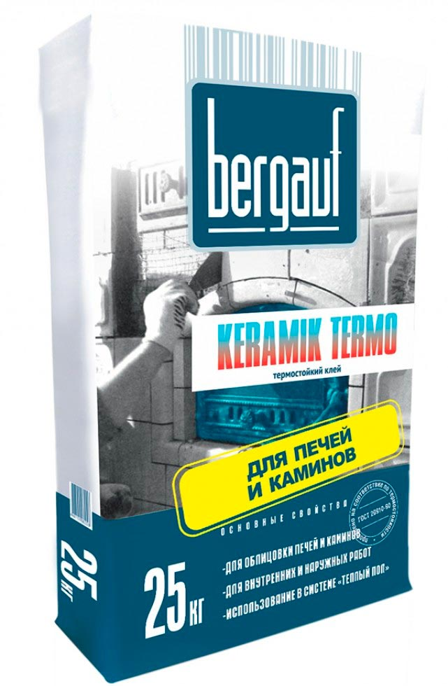 Плиточный клей для теплого пола Bergauf KERAMIK TERMO