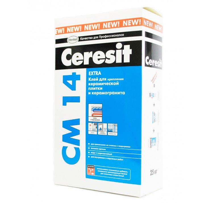 Плиточный клей для теплого пола Ceresit CМ 14 Extra