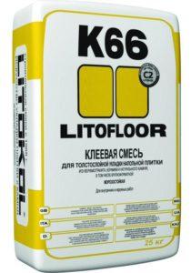 плиточный клей LITOFLOOR K66