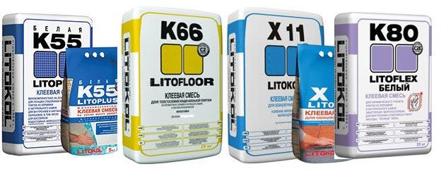 плиточный клей Litokol-виды