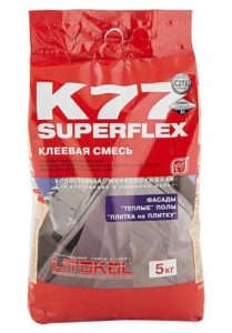 плиточный клей SUPERFLEX K77