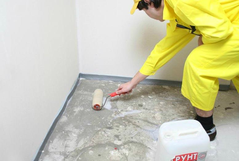 подготовка поверхности перед укладкой плитки