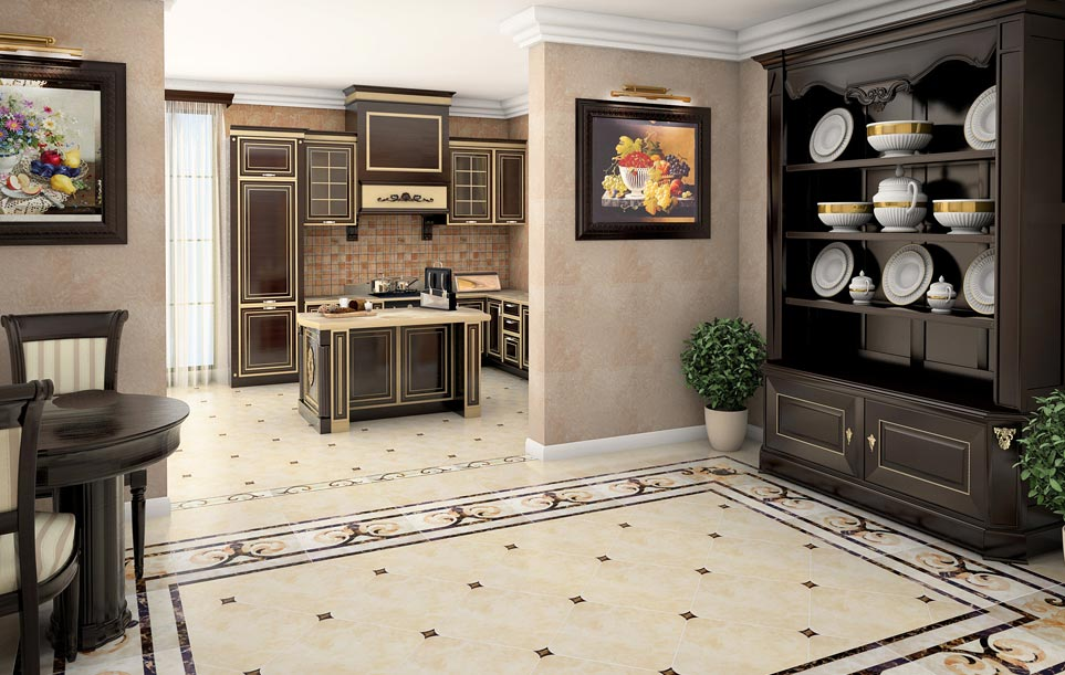 полы на кухне-фото