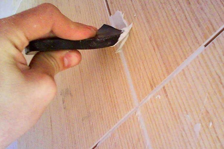 Затирка швов на плитке
