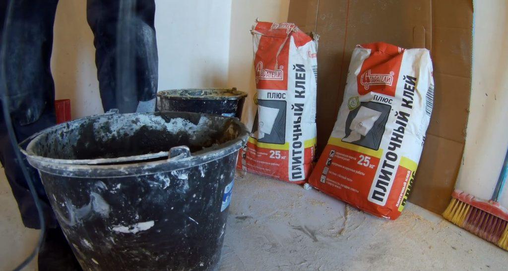 приготовление цементного плиточного клея