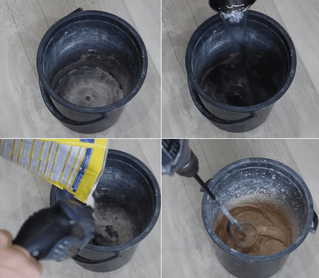 приготовление затирки для швов