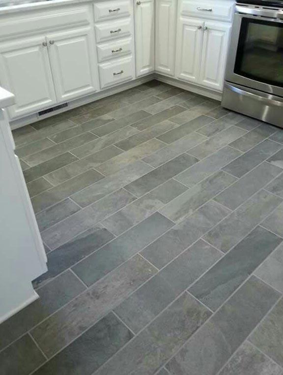 прямоугольная плитка на пол для кухни