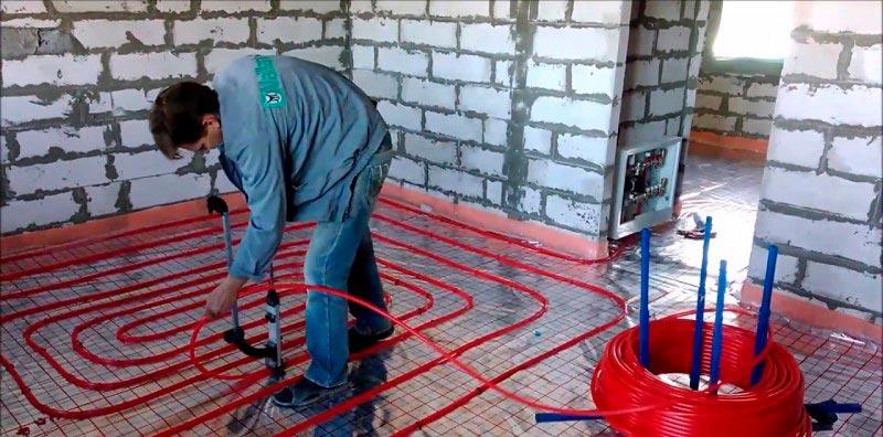 Расчет количества материала для укладки теплого водяного пола под плитку
