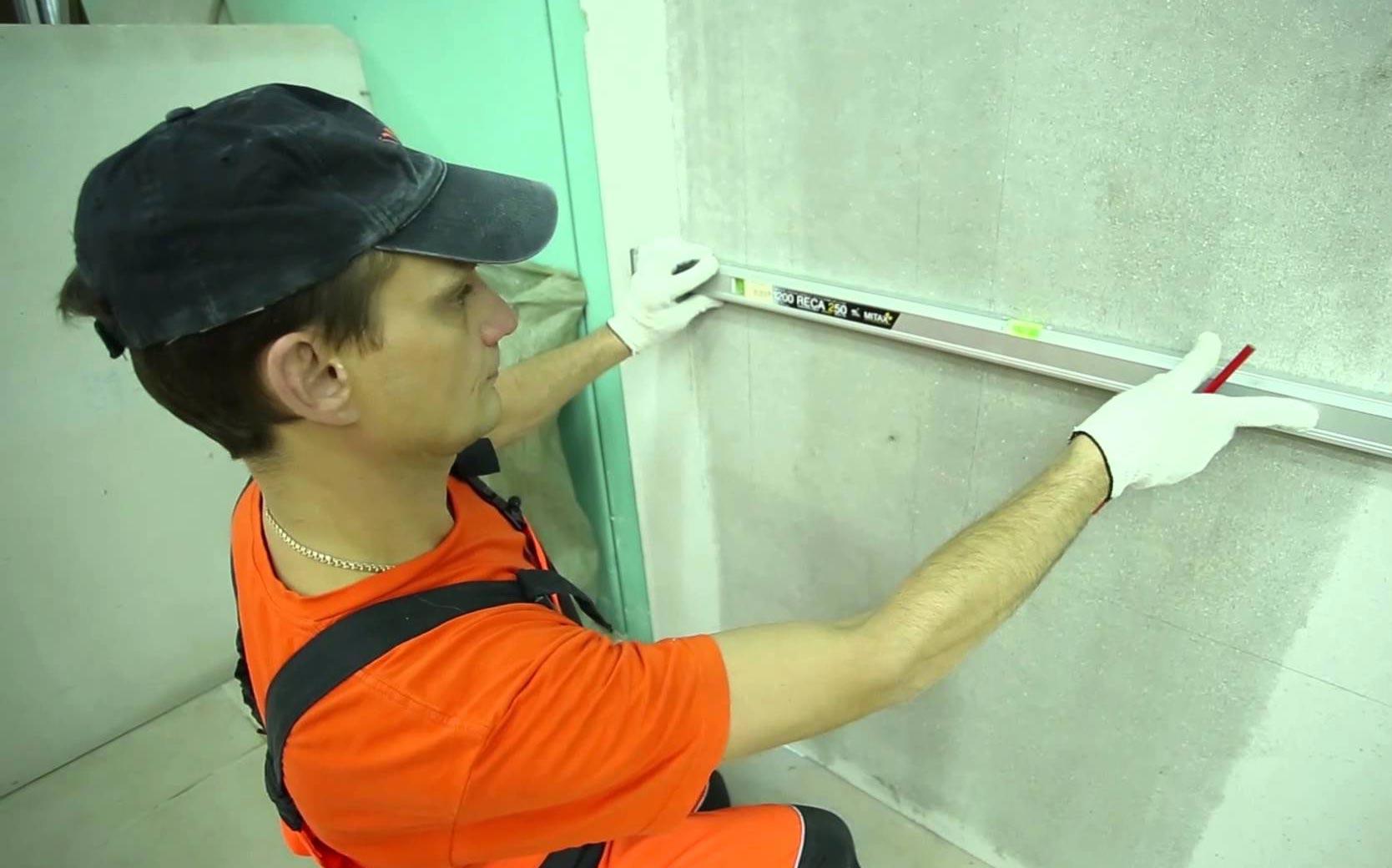 разметка стены перед укладкой плитки
