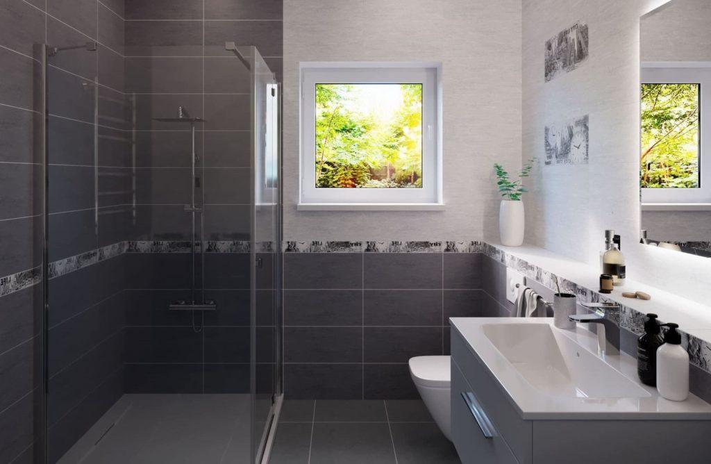 серая кафельная плитка для ванной комнаты