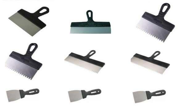 шпатели для затирки швов плитки