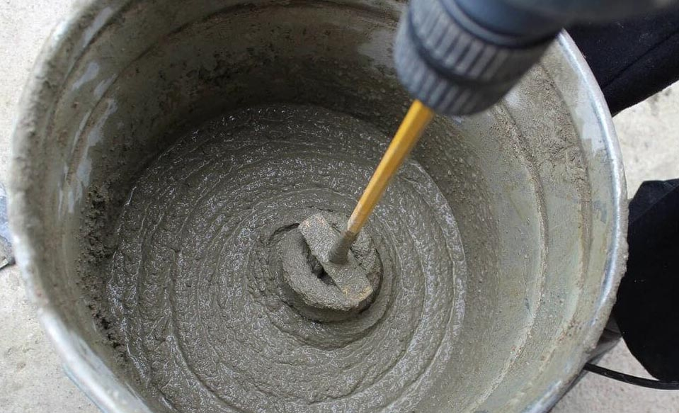 стяжка на пол в ванной под плитку-приготовление раствора