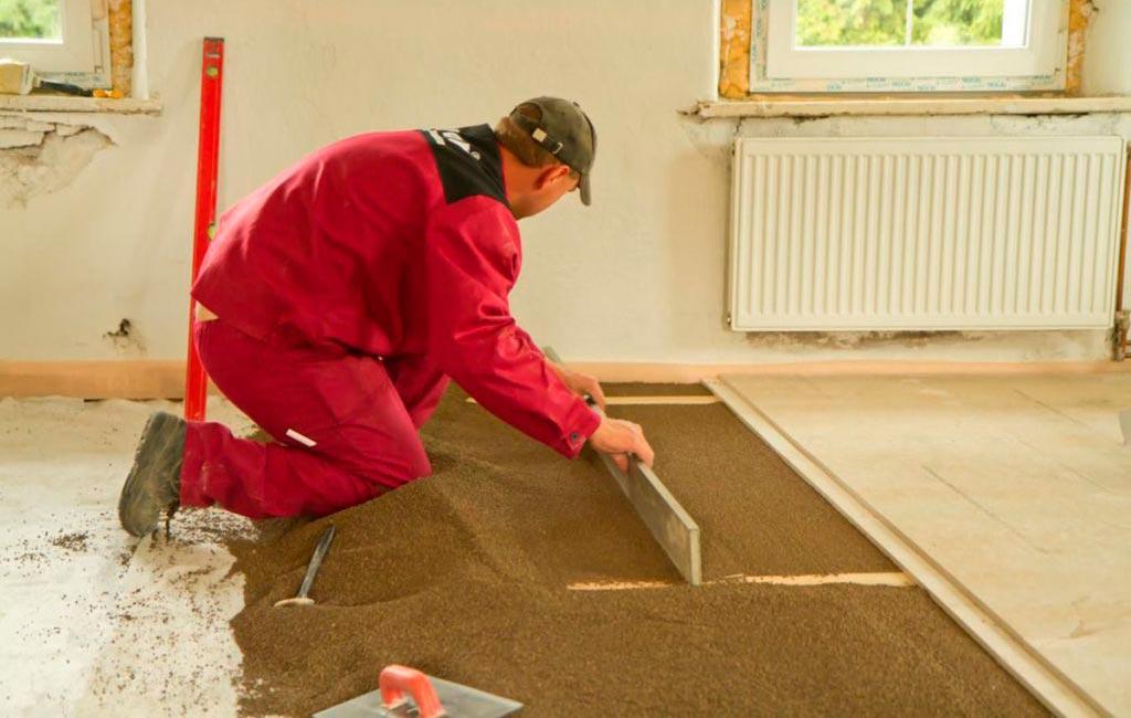 Сухая стяжка перед укладкой деревянного пола плиткой