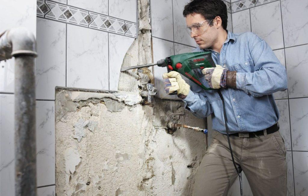 техника безопасности при демонтаже плитки