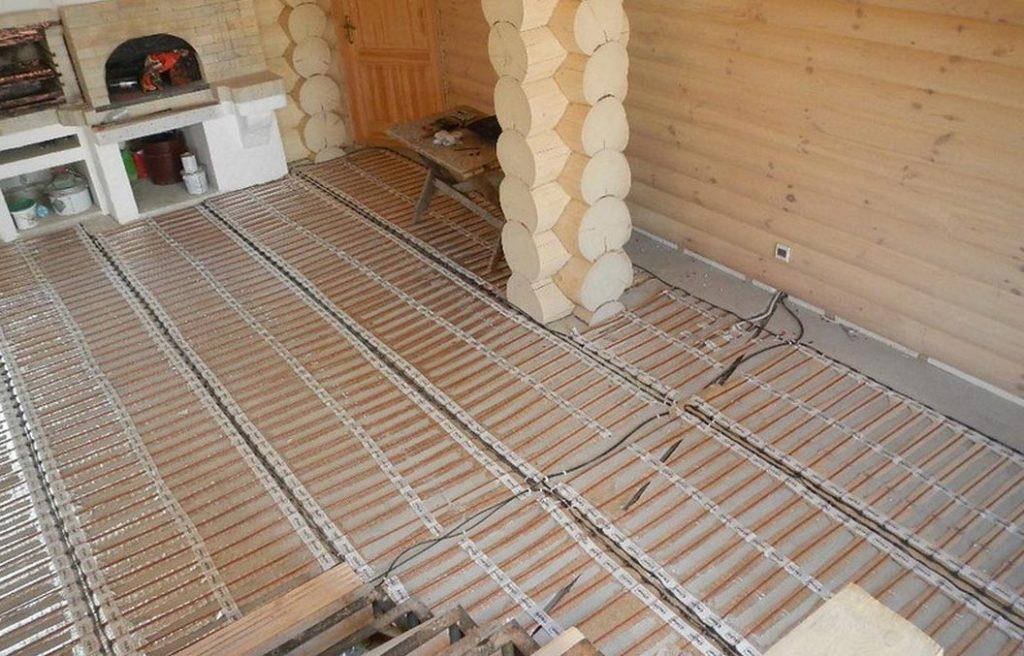 теплый пол в бане под плитку
