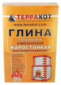 термостойкий клей для плитки-глина