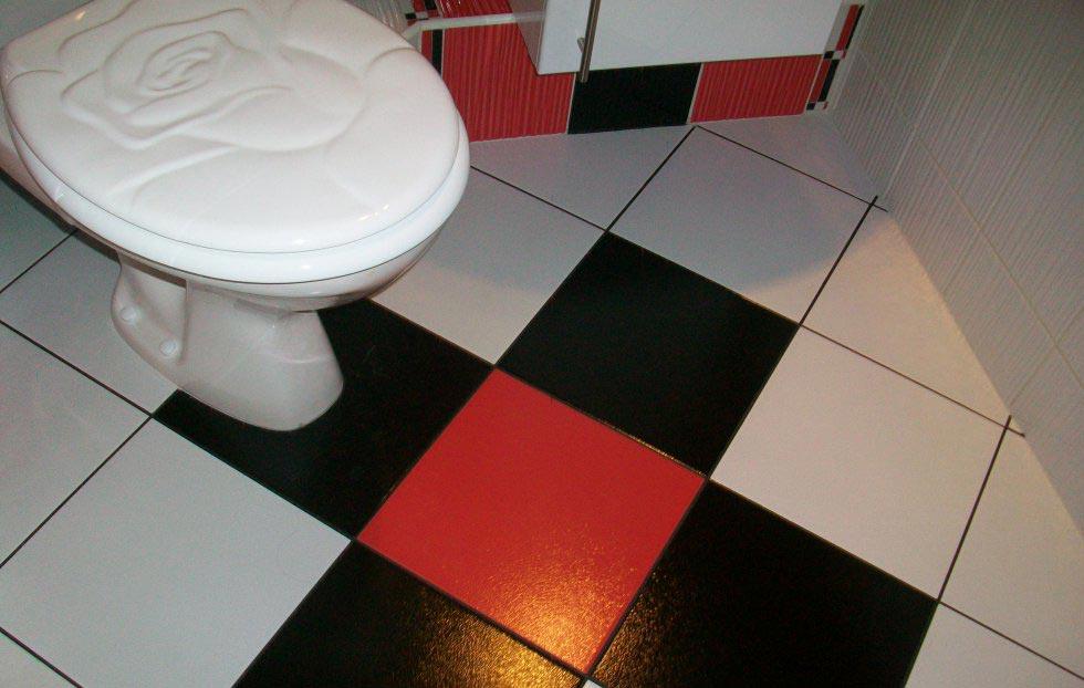укладка плитки на пол в туалете по диагонали