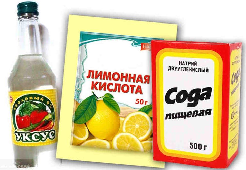 уксус, сода, лимонная кислота для чистки швов плитки на полу