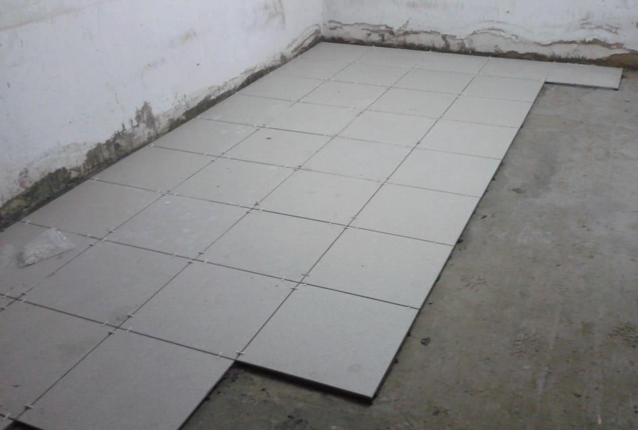 усиленная плитка большой толщины